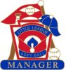 Softball Manager pin - 1.25 Little League Recognition pins