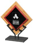 Acrylic Art Galaxy Award - Red Achievement Awards