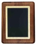 Walnut Plaque with Gloss Black Plate Achievement Awards