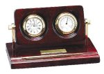 Piano Finish Rosewood Desk Clock with Instruments Employee Awards