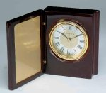 Piano Finish Mahogany Book Clock Employee Awards