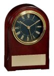 American Walnut Finish Arch Clock Employee Awards