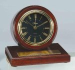 American Walnut Finish Round Clock Employee Awards