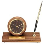 American Walnut Round Clock Employee Awards