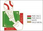 Home Run Pin - 1.25 Little League Recognition pins