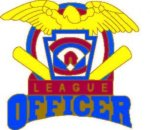 Officer Pin - 1.25 Little League Recognition pins