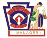 Manager Pin - 1.25 Little League Recognition pins