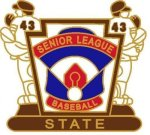 Senior League State pin - 1.25 Little League Tournament Pins