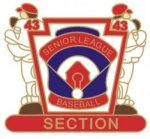 Senior League Section pin - 1.25 Little League Tournament Pins