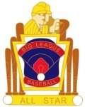Big League All Star pin - 1.25 Little League Tournament Pins