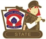 Junior League Softball State pin - 1.25 L.L. Softball Tournament pins