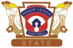 Senior League Softball State pin - 1.25 L.L. Softball Tournament pins