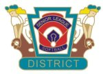 Senior League Softball District pin - 1.25 L.L. Softball Tournament pins