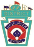 Little League Softball District pin - 1.25 L.L. Softball Tournament pins