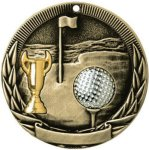 Tri-Colored Series Medals -Golf Tri-Colored Medal Awards
